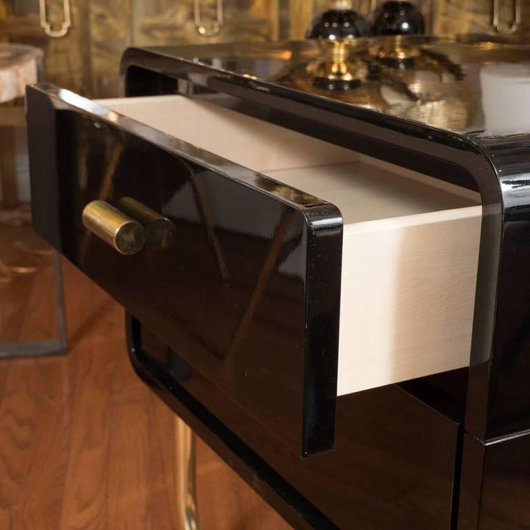 Pair of Lacquered Wood Side Tables 3