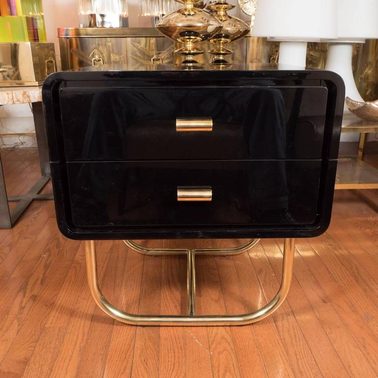 Pair of Lacquered Wood Side Tables 2