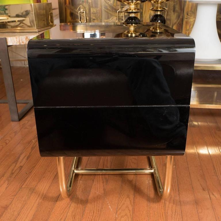 Pair of Lacquered Wood Side Tables 4