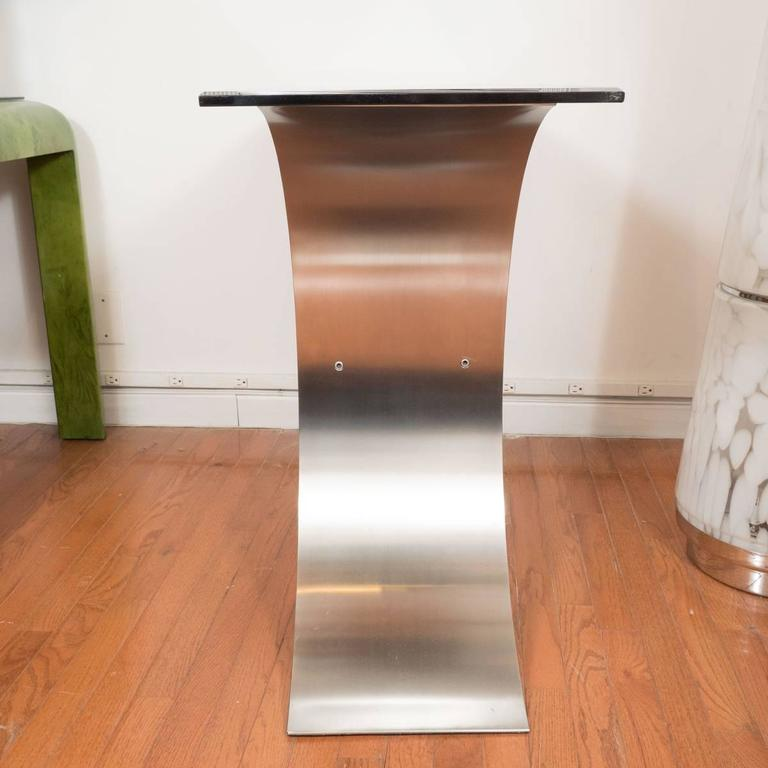 Sculptural Steel Console Table 4