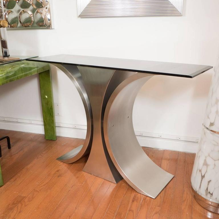 Sculptural Steel Console Table 2