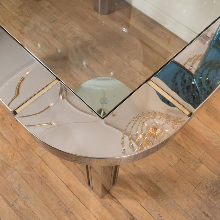 Polished Nickel and Brass Game Table 4