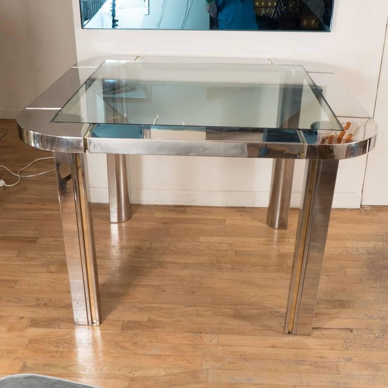 Polished Nickel and Brass Game Table 2