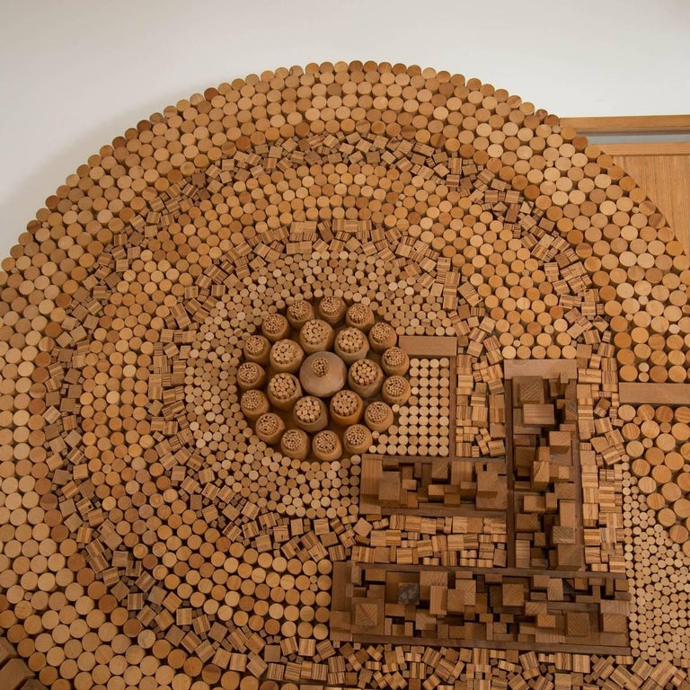 Monumental Wood Mosaic Wall Applique 3