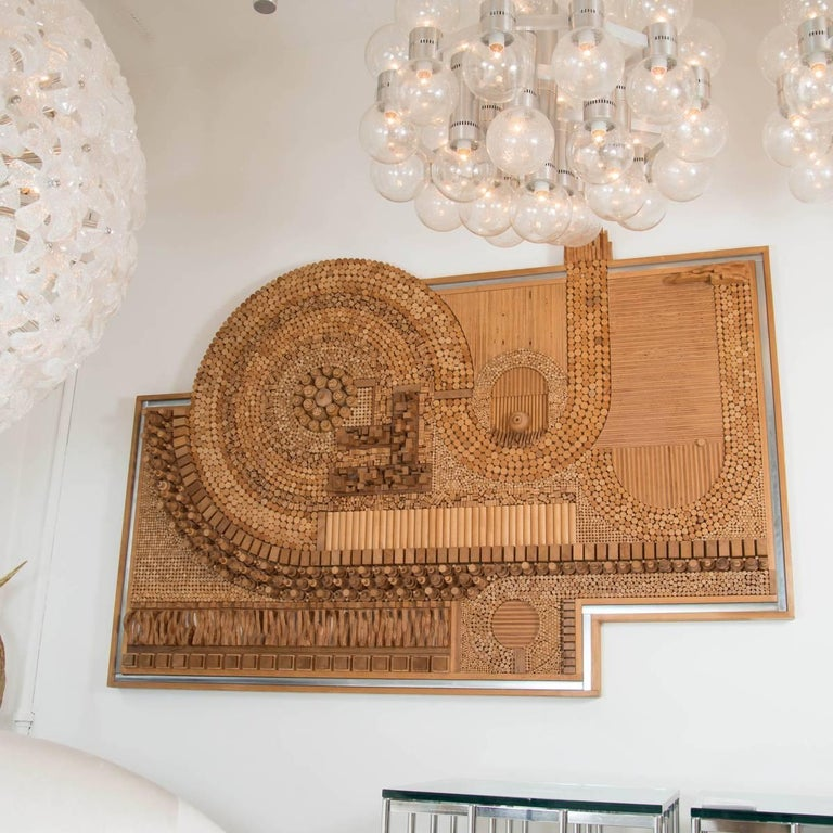 Monumental Wood Mosaic Wall Applique 4