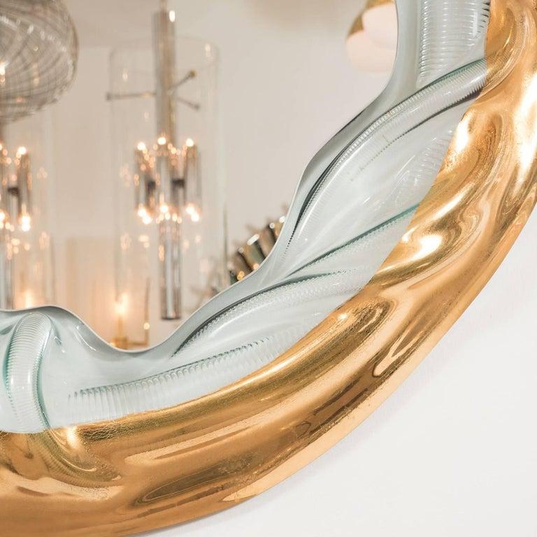 Textured Glass Surround Mirror 2