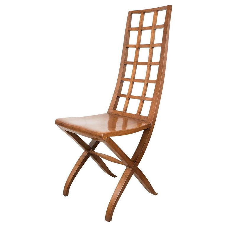 Pair of Ladder Back Wood Chairs 1