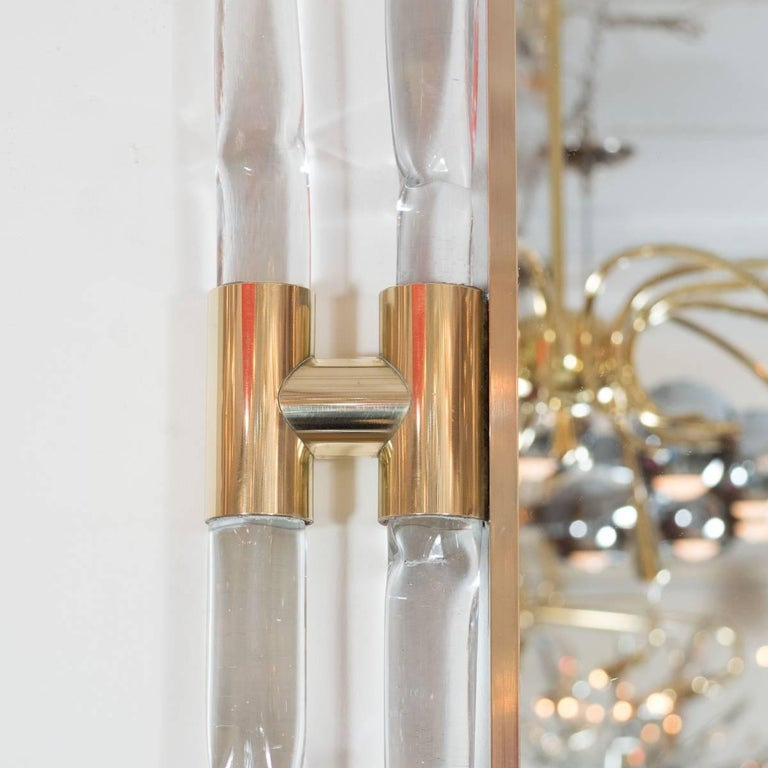 Brass and Glass Rod Mirror 4