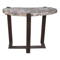 Rock Crystal Slab Table