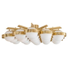 Brass Hexagonal Flush Mount Fixture