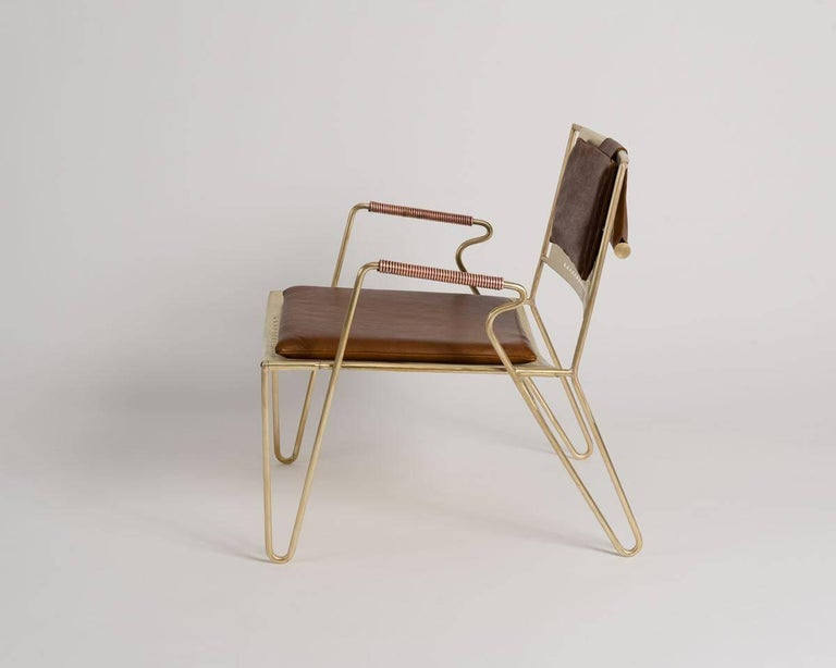 Brushed Thad Hayes, Contemporary Lounge Chair, United States, 2017 For Sale