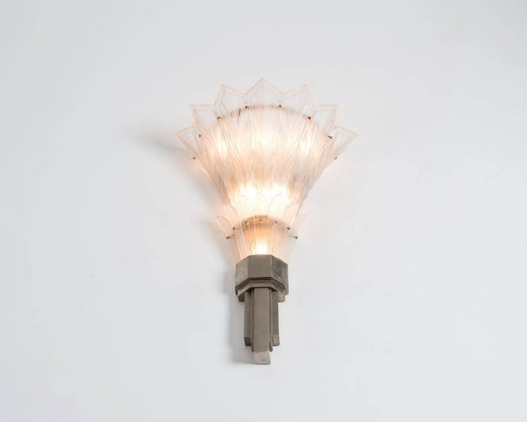 Sabino, Fine Pair of Art Deco Sconces, France, circa 1920s 7