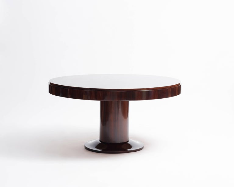 This table was part of a project Jacques Adnet undertook with fellow designer André Arbus to redecorate the Palais des Consuls de Rouen in 1955.