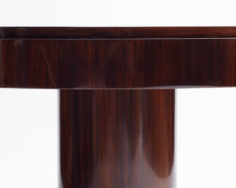 French Jacques Adnet, Large Round Center Table, France, 1955 For Sale