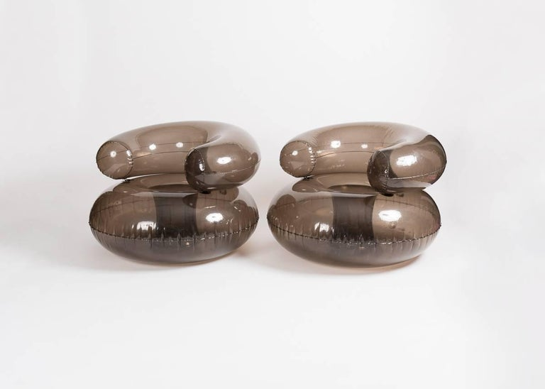 20th Century Quasar Khanh, Satellite No. 13, Pair of Inflatable Armchairs, France, 1968 For Sale
