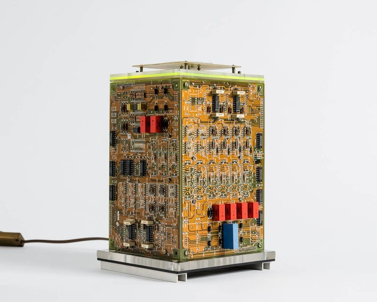 This series by Gérard Haas is many things at once--functional and avant garde, elegant and expressive--thanks to the artist's surprising use of reclaimed materials. Finding beauty in discarded computer equipment (amid the anxiety of the computer's