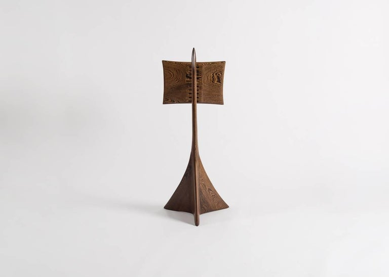 Brass Michael Coffey, Carved Music Stand, United States, 1987 For Sale