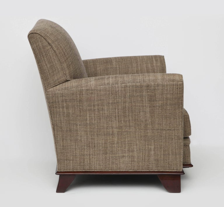 French In the Manner of Dominique, Pair of Art Deco Armchairs, France, C. 1930 For Sale