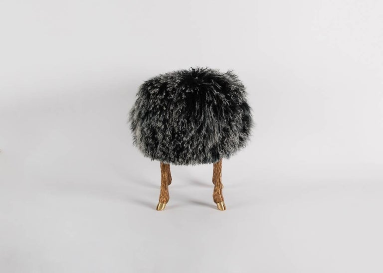 Mark Bankowsky, Pieds de Bouc, Stool, France, 2010 In Excellent Condition For Sale In New York, NY