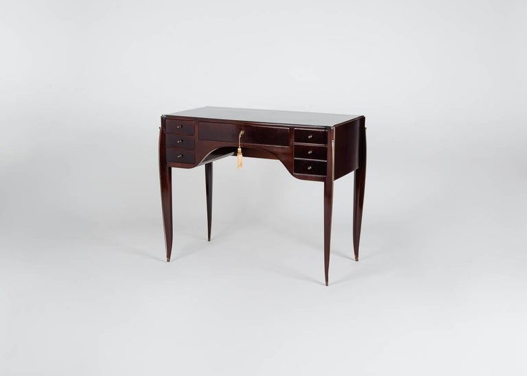 French Alfred Porteneuve, Art Deco Writing Table and Chair, France, circa 1935 For Sale