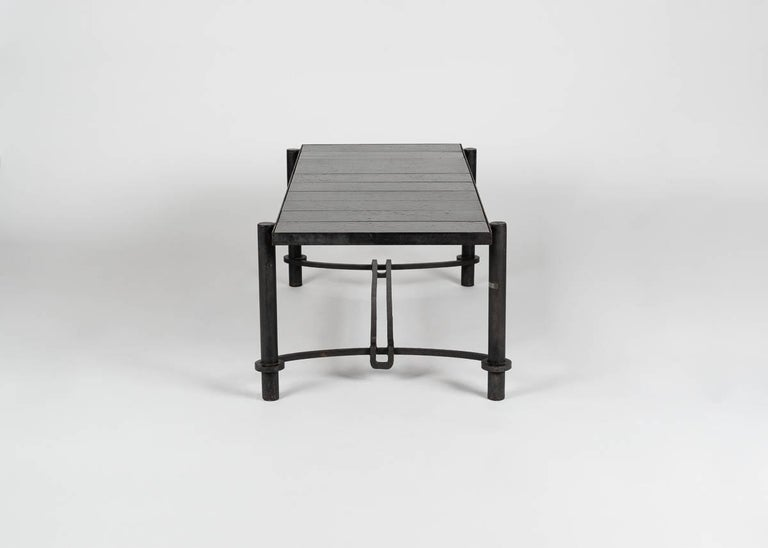 Glazed Jacques Adnet for Compagnie Des Arts Francais, Coffee Table, France, circa 1958 For Sale