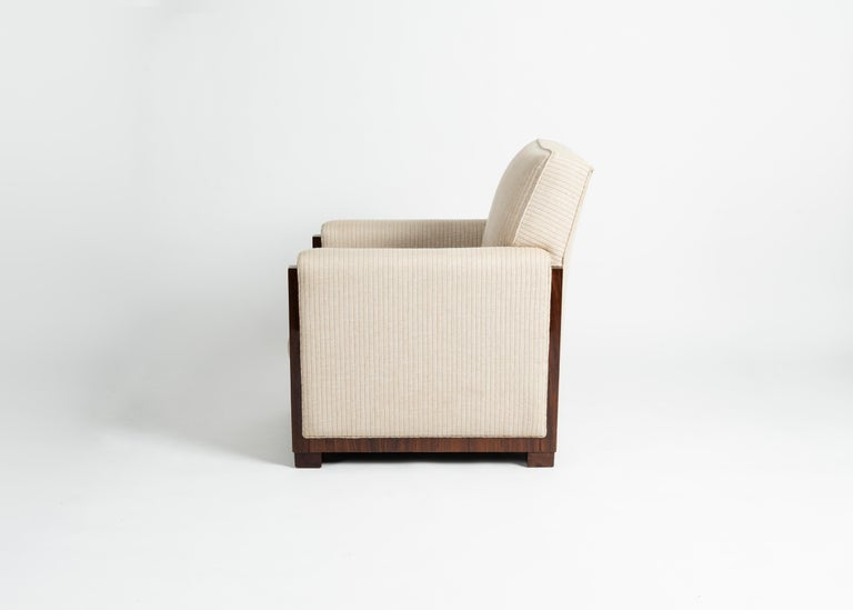 French Art Deco Modernist Club Chair, Lyon, France, circa 1930 For Sale