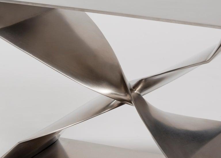 Minimalist Carol Egan Steel Stool, USA, 2017 For Sale