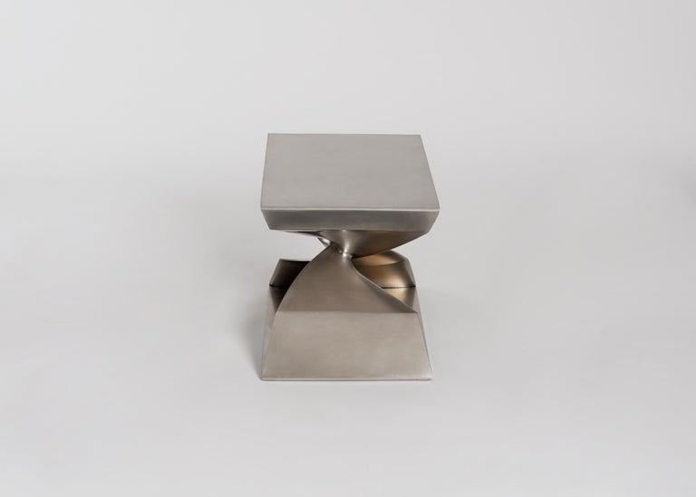 American Carol Egan Steel Stool, USA, 2017 For Sale