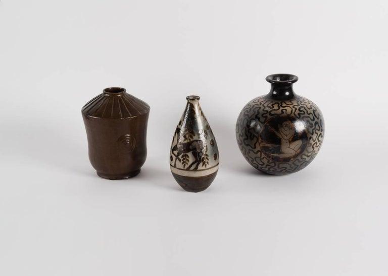 Primavera, Glazed Ceramic Vase, France, C. 1928 In Good Condition For Sale In New York, NY