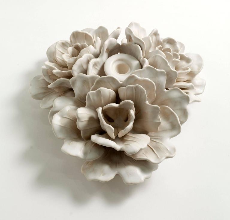 American Matthew Solomon, Glazed Porcelain Candle-Holding Centerpiece, USA, 2015 For Sale