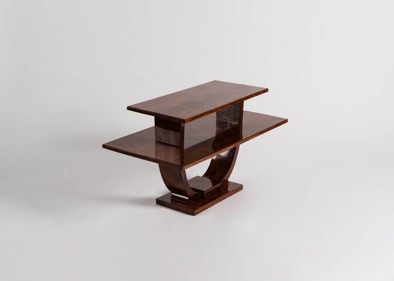 Jules Leleu, Mahogany Side Table, France, C. 1930 In Good Condition For Sale In New York, NY