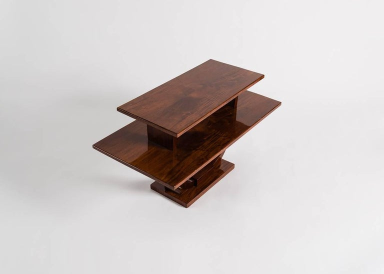 Jules Leleu, Mahogany Side Table, France, C. 1930 For Sale 1