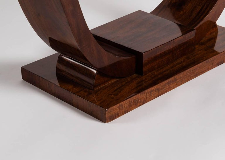 Mid-20th Century Jules Leleu, Mahogany Side Table, France, C. 1930 For Sale