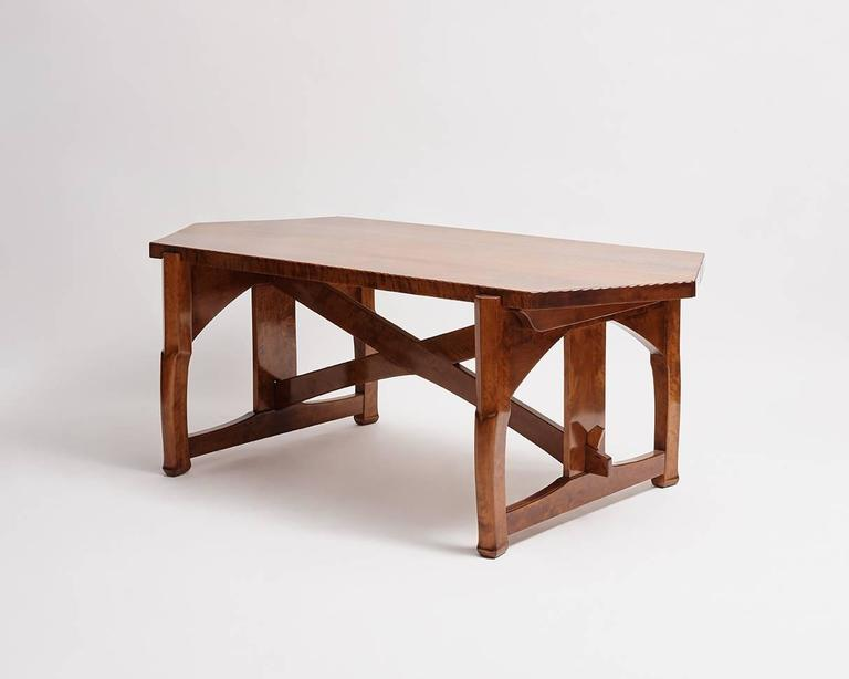 Jugendstil Lars Israel Wahlman, Table, Sweden, c. 1910 For Sale