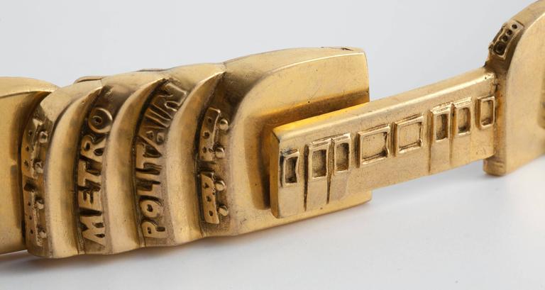 "Line Vautrin, ""Le Métropolitain"", Rare Belt, France, circa 1950 3"