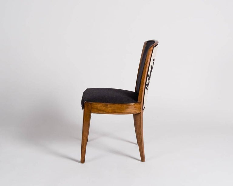 French Dominique, Set of Ten Dining Chairs, France, C. 1928 For Sale