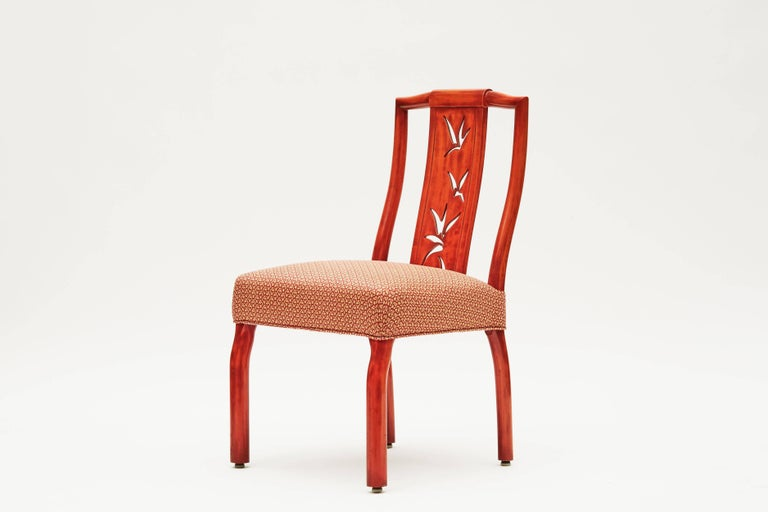 James Mont, Pair of Lacquer Dining Chairs, United States, circa 1950 3