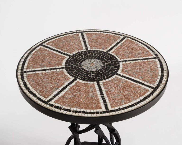 This occasional table, designed by celebrated decorator Bill Willis, is as evocative of the Moroccan decorative tradition as it is firmly entrenched in a western one. The table is thereby characteristic of Willis's genius for seamlessly intertwining