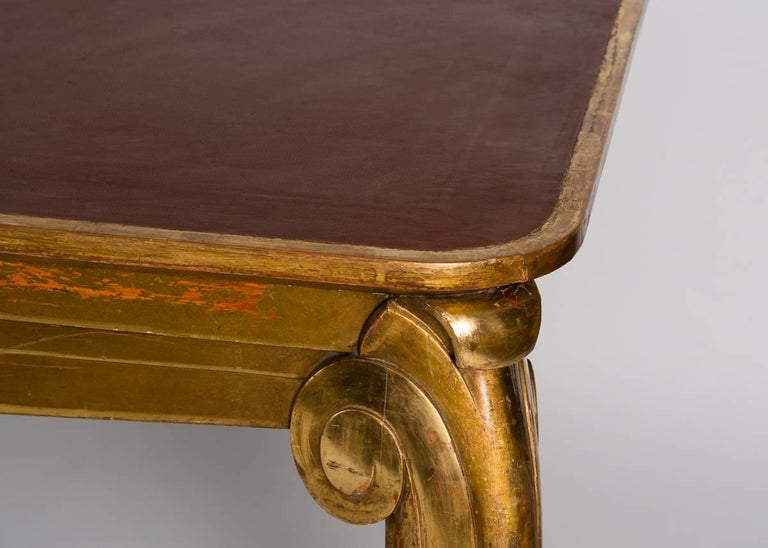 Louis Süe et André Mare, Large-scale Gilt Console Table, France, C. 1920 In Good Condition For Sale In New York, NY