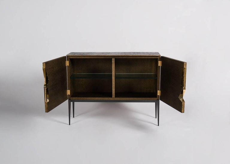 Achille Salvagni, Gió, Double-Door Bar Cabinet, Italy, 2013 In Excellent Condition For Sale In New York, NY