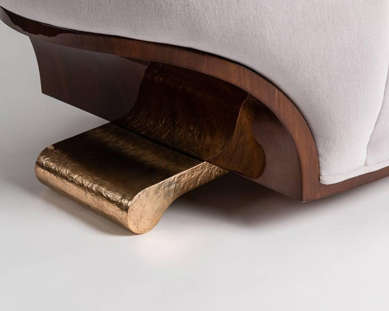 Bronze Achille Salvagni, Tato, Contemporary Armchair, Italy, 2016 For Sale