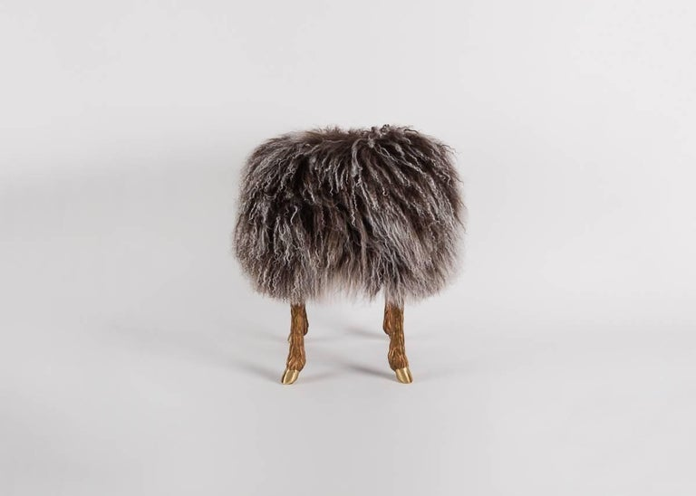 Mark Bankowsky, Pieds de Bouc, Stool, France, 2008 In Excellent Condition For Sale In New York, NY
