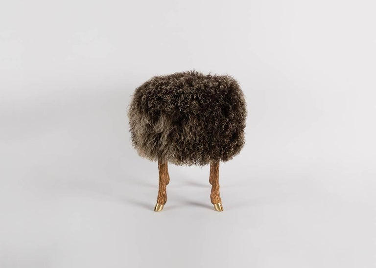 Mark Bankowsky, Pieds de Bouc, Stool, France In Excellent Condition For Sale In New York, NY