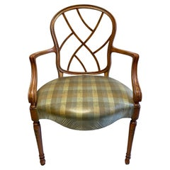Elegant Set of 8 French Hand Stenciled Country Style Dining Chairs