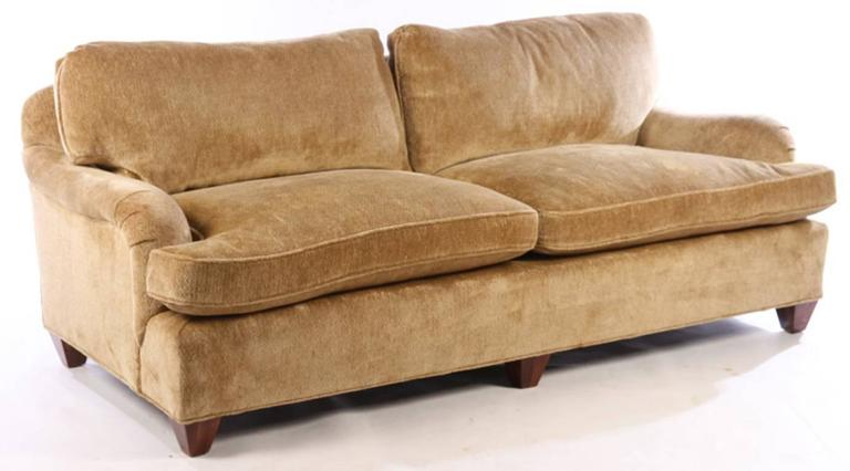 A Good Quality Upholstered Bridgewater Style Sofa Having Loose Cushion Back And Seat The