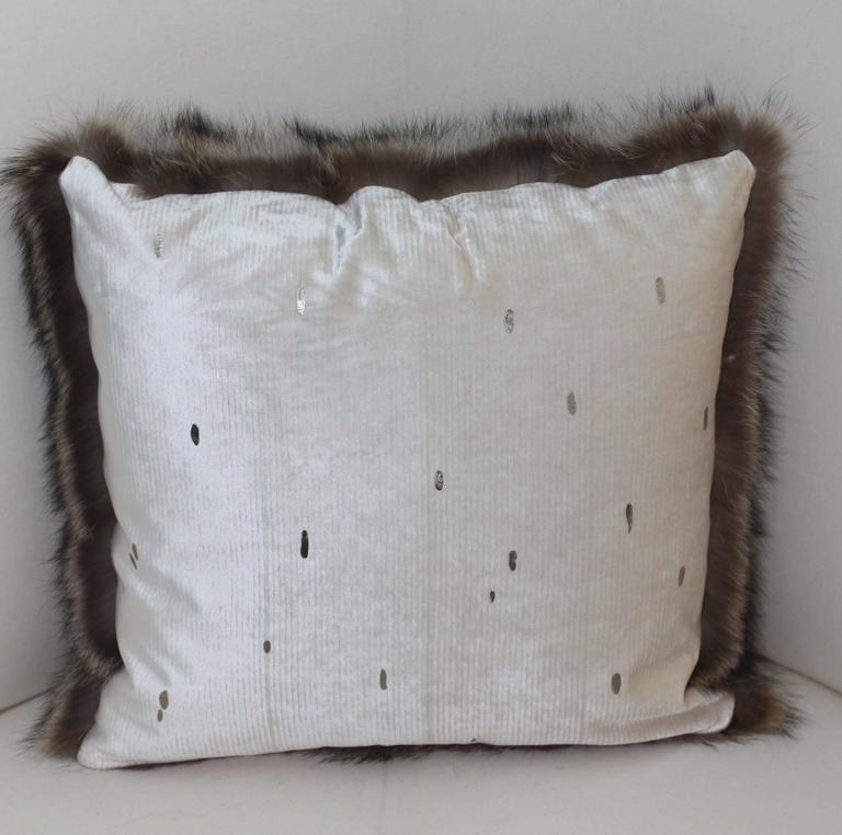 Luxurious Down Filled Genuine Raccoon Throw Pillows at 1stdibs