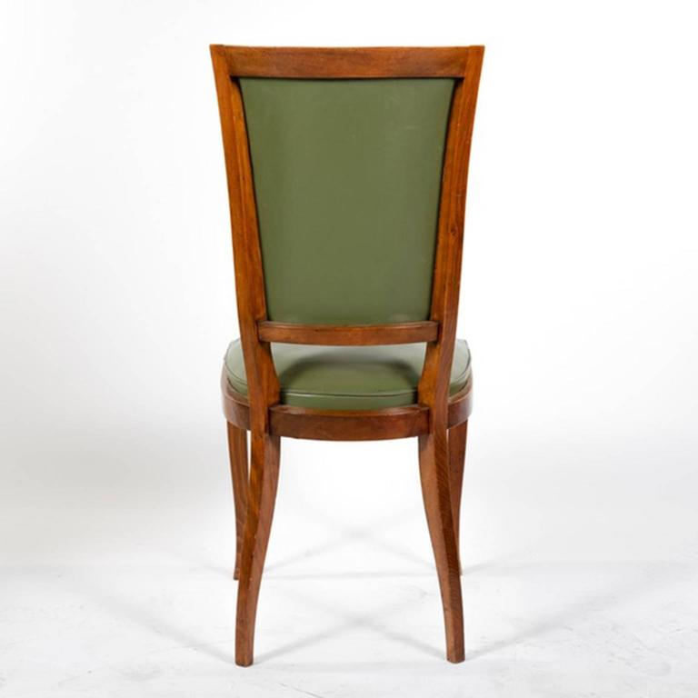 Group of Six French Vintage Upholstered Dining Side Chairs For Sale 2