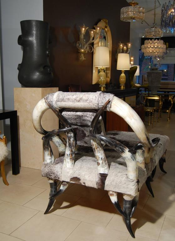 Horn And Cowhide Chaise Lounge For Sale At 1stdibs
