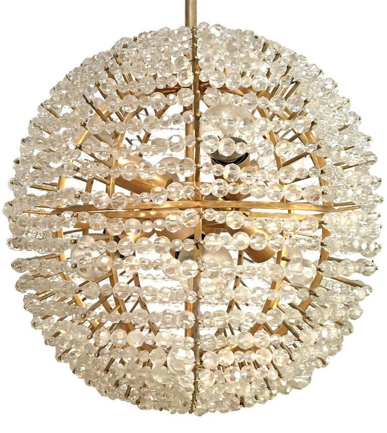 Hand-Carved Bakalowits & Sohne Supernova Chandelier For Sale