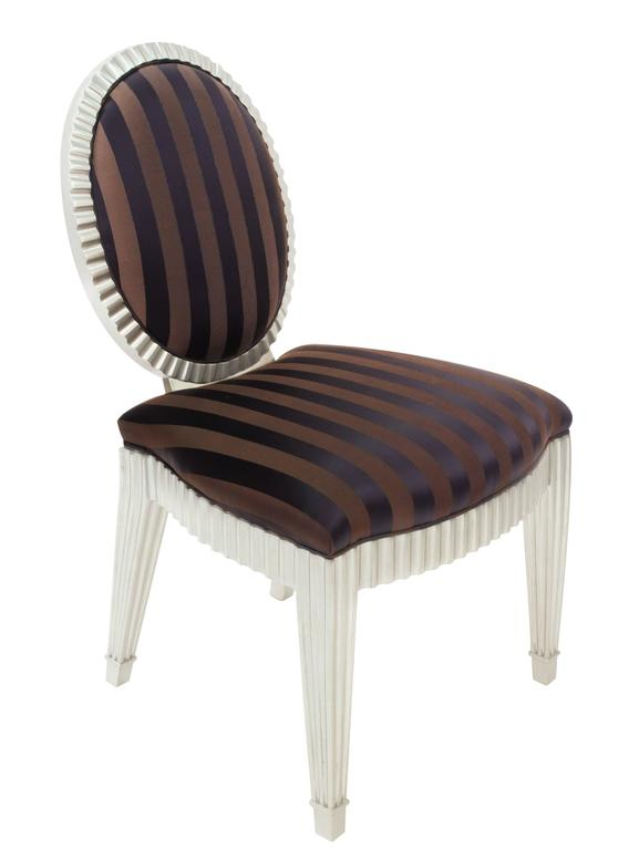Set of Four Dining or Game Chairs by John Hutton for Donghia In Excellent Condition For Sale In New York, NY